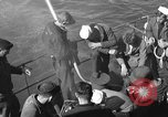 Image of U.S. sailors test fire hose on an LST Portland England United Kingdom, 1944, second 7 stock footage video 65675051842