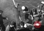 Image of U.S. sailors test fire hose on an LST Portland England United Kingdom, 1944, second 9 stock footage video 65675051842