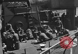 Image of U.S. sailors test fire hose on an LST Portland England United Kingdom, 1944, second 43 stock footage video 65675051842