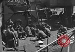Image of U.S. sailors test fire hose on an LST Portland England United Kingdom, 1944, second 49 stock footage video 65675051842