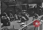 Image of U.S. sailors test fire hose on an LST Portland England United Kingdom, 1944, second 53 stock footage video 65675051842