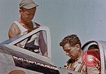 Image of P-47 pilots and crew chiefs of USAAC 57th Fighter Group Corsica France, 1944, second 11 stock footage video 65675051884