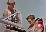 Image of P-47 pilots and crew chiefs of USAAC 57th Fighter Group Corsica France, 1944, second 14 stock footage video 65675051884