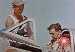 Image of P-47 pilots and crew chiefs of USAAC 57th Fighter Group Corsica France, 1944, second 15 stock footage video 65675051884