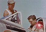 Image of P-47 pilots and crew chiefs of USAAC 57th Fighter Group Corsica France, 1944, second 16 stock footage video 65675051884