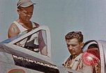 Image of P-47 pilots and crew chiefs of USAAC 57th Fighter Group Corsica France, 1944, second 20 stock footage video 65675051884