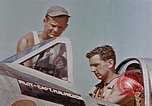 Image of P-47 pilots and crew chiefs of USAAC 57th Fighter Group Corsica France, 1944, second 23 stock footage video 65675051884