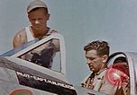 Image of P-47 pilots and crew chiefs of USAAC 57th Fighter Group Corsica France, 1944, second 25 stock footage video 65675051884