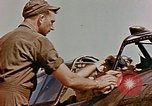 Image of P-47 pilots and crew chiefs of USAAC 57th Fighter Group Corsica France, 1944, second 34 stock footage video 65675051884