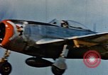 Image of P 47 aircraft of US Army Air Forces 57th Fighter Group Corsica France, 1944, second 12 stock footage video 65675051896