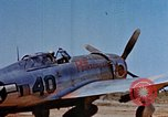 Image of Pilot examines flak damage to his P-47 aircraft Corsica France, 1944, second 13 stock footage video 65675051897