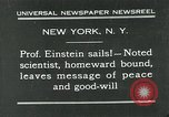Image of Albert Einstein in United States New York City USA, 1931, second 1 stock footage video 65675051983