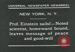 Image of Albert Einstein in United States New York City USA, 1931, second 4 stock footage video 65675051983