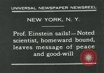 Image of Albert Einstein in United States New York City USA, 1931, second 5 stock footage video 65675051983
