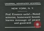 Image of Albert Einstein in United States New York City USA, 1931, second 7 stock footage video 65675051983