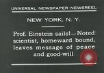 Image of Albert Einstein in United States New York City USA, 1931, second 11 stock footage video 65675051983