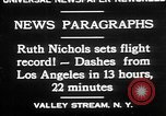 Image of Ruth Nichols Valley Stream New York USA, 1930, second 2 stock footage video 65675052011
