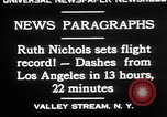 Image of Ruth Nichols Valley Stream New York USA, 1930, second 8 stock footage video 65675052011