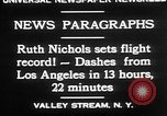Image of Ruth Nichols Valley Stream New York USA, 1930, second 9 stock footage video 65675052011