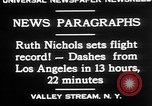 Image of Ruth Nichols Valley Stream New York USA, 1930, second 10 stock footage video 65675052011