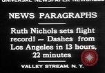 Image of Ruth Nichols Valley Stream New York USA, 1930, second 12 stock footage video 65675052011