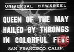 Image of May Day Queen crowning San Francisco California USA, 1937, second 1 stock footage video 65675052019