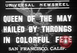 Image of May Day Queen crowning San Francisco California USA, 1937, second 5 stock footage video 65675052019