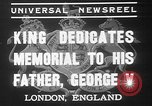 Image of King George VI London England United Kingdom, 1937, second 2 stock footage video 65675052021