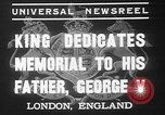 Image of King George VI London England United Kingdom, 1937, second 3 stock footage video 65675052021