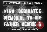 Image of King George VI London England United Kingdom, 1937, second 9 stock footage video 65675052021