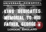 Image of King George VI London England United Kingdom, 1937, second 10 stock footage video 65675052021