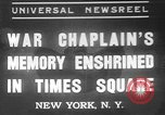 Image of memorial of Francis P Duffy New York City USA, 1937, second 1 stock footage video 65675052022