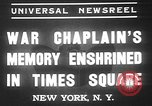 Image of memorial of Francis P Duffy New York City USA, 1937, second 2 stock footage video 65675052022