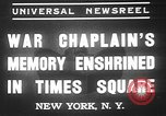 Image of memorial of Francis P Duffy New York City USA, 1937, second 3 stock footage video 65675052022