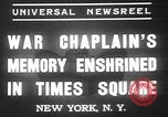 Image of memorial of Francis P Duffy New York City USA, 1937, second 4 stock footage video 65675052022