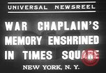 Image of memorial of Francis P Duffy New York City USA, 1937, second 5 stock footage video 65675052022