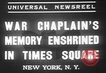 Image of memorial of Francis P Duffy New York City USA, 1937, second 9 stock footage video 65675052022