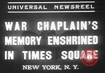 Image of memorial of Francis P Duffy New York City USA, 1937, second 10 stock footage video 65675052022