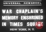 Image of memorial of Francis P Duffy New York City USA, 1937, second 11 stock footage video 65675052022