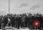 Image of Golden rivet completing the Golden Gate bridge San Francisco California USA, 1937, second 18 stock footage video 65675052024