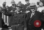 Image of Golden rivet completing the Golden Gate bridge San Francisco California USA, 1937, second 28 stock footage video 65675052024