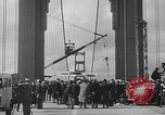 Image of Golden rivet completing the Golden Gate bridge San Francisco California USA, 1937, second 31 stock footage video 65675052024