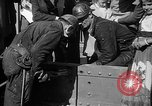 Image of Golden rivet completing the Golden Gate bridge San Francisco California USA, 1937, second 34 stock footage video 65675052024