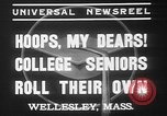 Image of college girls Wellesley Massachusetts USA, 1937, second 6 stock footage video 65675052026