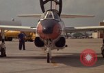 Image of aircraft T-2C Beeville Texas Naval Air Station Chase Field USA, 1982, second 56 stock footage video 65675052116