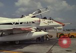 Image of aircraft TA-4J Beeville Texas Naval Air Station Chase Field USA, 1982, second 3 stock footage video 65675052119