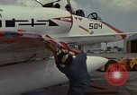Image of aircraft TA-4J Beeville Texas Naval Air Station Chase Field USA, 1982, second 28 stock footage video 65675052119