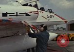 Image of aircraft TA-4J Beeville Texas Naval Air Station Chase Field USA, 1982, second 30 stock footage video 65675052119