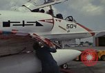 Image of aircraft TA-4J Beeville Texas Naval Air Station Chase Field USA, 1982, second 33 stock footage video 65675052119