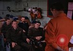Image of briefing officer Mediterranean Sea, 1966, second 1 stock footage video 65675052126